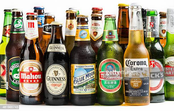 beers of the world - brand name stock pictures, royalty-free photos & images