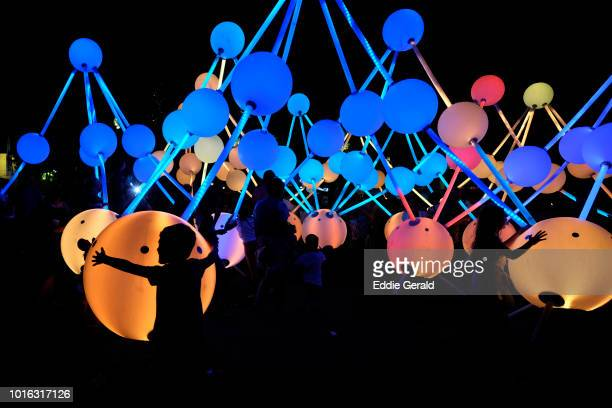 beersheba festival of lights - installation art stock pictures, royalty-free photos & images