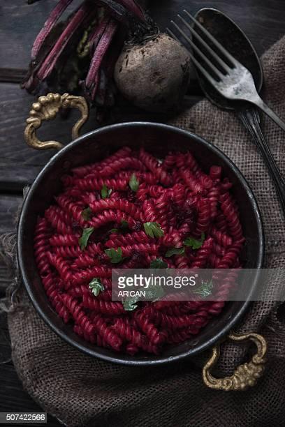 Rote Rübe Makkaroni