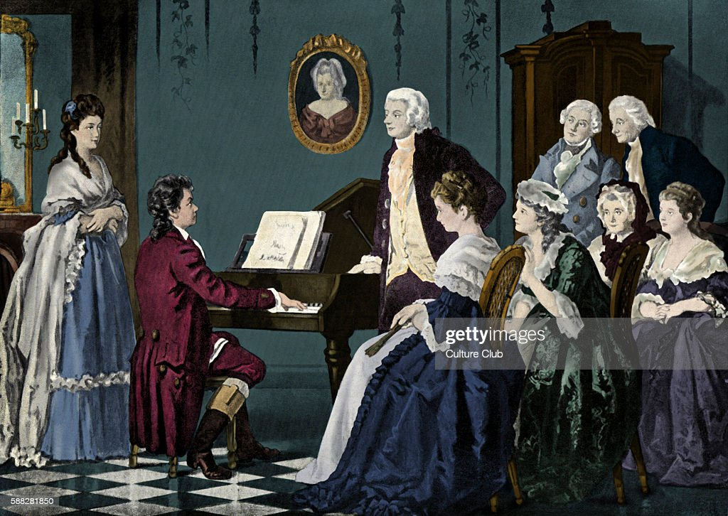 Beethoven playing at Wolfgang Amadeus Mozart s, 1787  Beethoven aged
