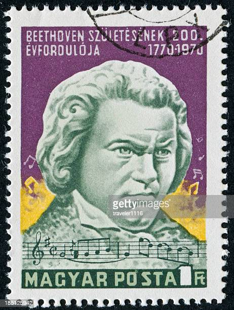 beethoven stamp - beethoven stock pictures, royalty-free photos & images