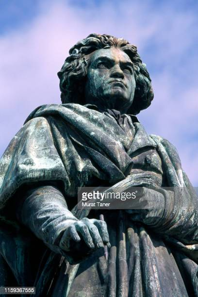 beethoven statue in bonn - beethoven stock pictures, royalty-free photos & images