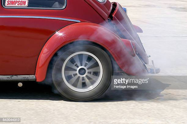 VW Beetle Burning out