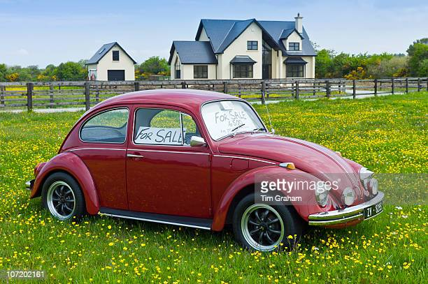 Beetle car for sale outside Irish home near Taghmon Southern Ireland