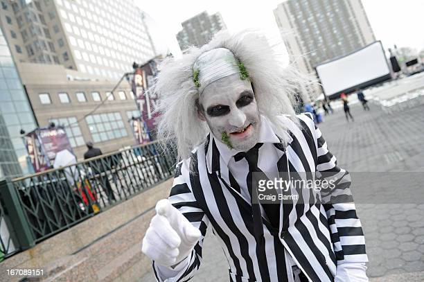Beetlejuice charcter attends the Beetlejuice Tribeca DriveIn Screening during the 2013 Tribeca Film Festival on April 19 2013 in New York City