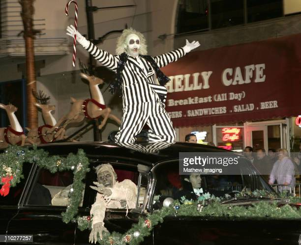Beetlejuice during The 74th Annual Hollywood Christmas Parade Parade Route at Sunset Blvd in Hollywood California United States