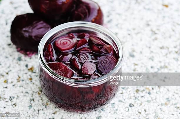 beetroot preserve - pickled stock pictures, royalty-free photos & images