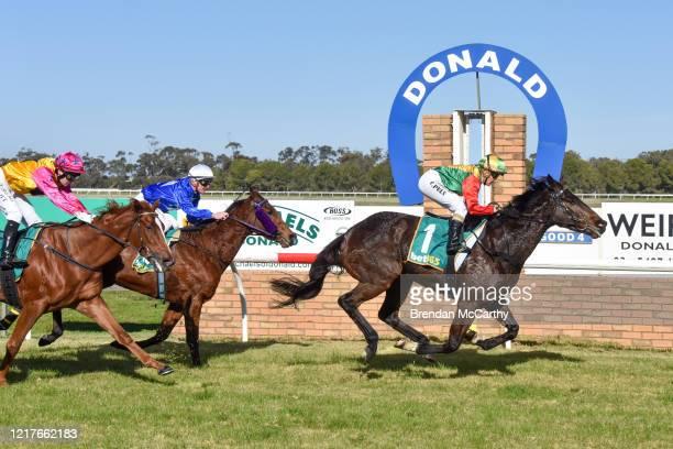 Beetwentynine ridden by Christine Puls wins the Bendigo Door Centre Maiden Plate at Donald Racecourse on June 05 2020 in Donald Australia