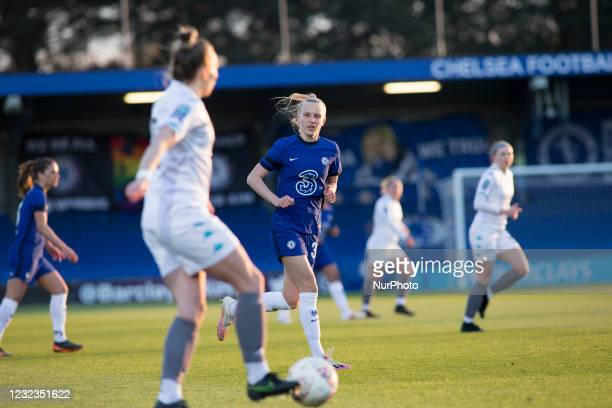 Beever-Jones looks on during the 2020-21 FA Womens Cup fixture between Chelsea FC and London City at Kingsmeadow on April 16, 2021 in Kingston upon...