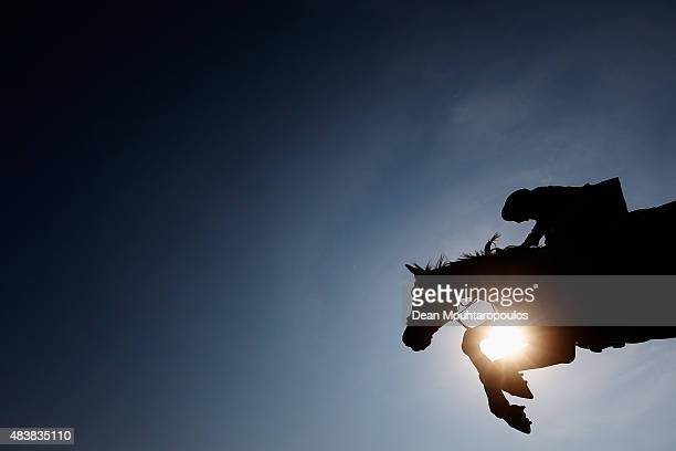 Beezie Madden of the USA riding Vanilla competes in the Class 02 CSI5* 150/155m Against the Clock with JumpOff during the Longines Global Champions...