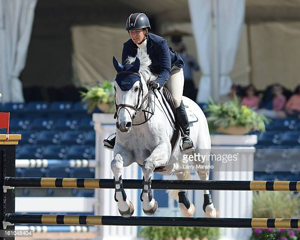 Beezie Madden participatesin FTI sulting Winter Equestrian Festival at Palm Beach International Equestrian Center on February 8 2013 in Wellington...