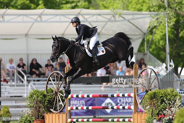 Beezie Madden riding Cortes 'C' in action during the $100000 Empire State Grand Prix presented by the Kincade Group during the Old Salem Farm Spring...