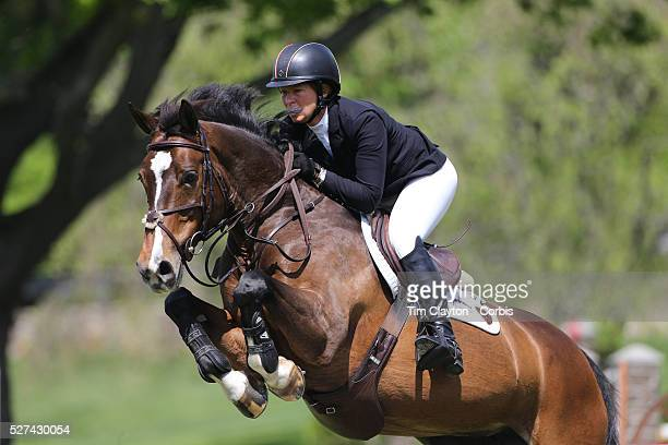 Beezie Madden riding Vanilla in action during the $100000 Empire State Grand Prix presented by the Kincade Group during the Old Salem Farm Spring...