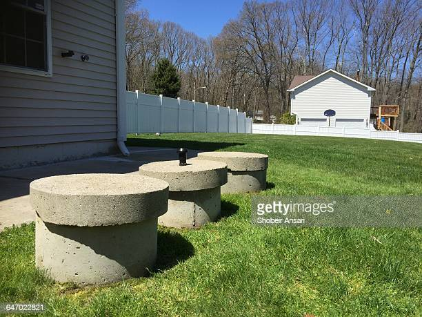 diy - before & after - septic tank stock photos and pictures