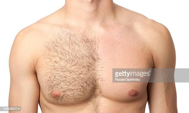 before & after waxing treatment - torso stock pictures, royalty-free photos & images