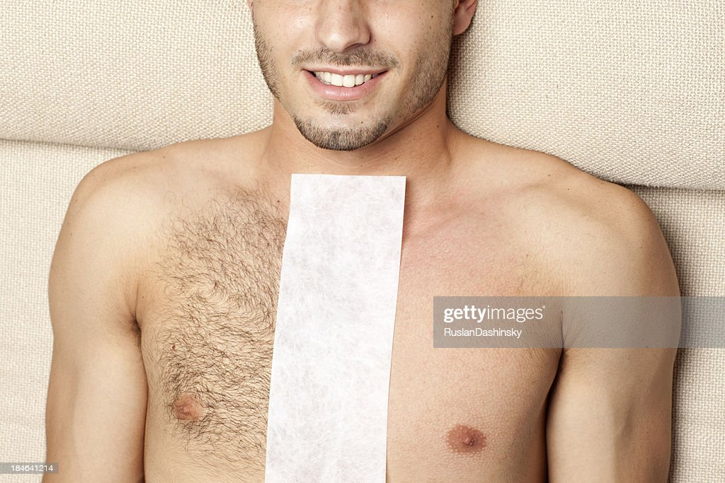 Before & after waxing treatment : Stock Photo