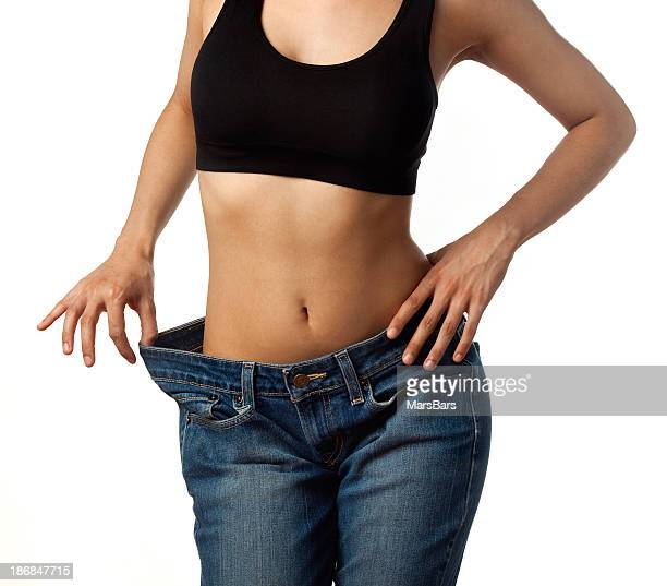 before and after losing weight - waist stock pictures, royalty-free photos & images