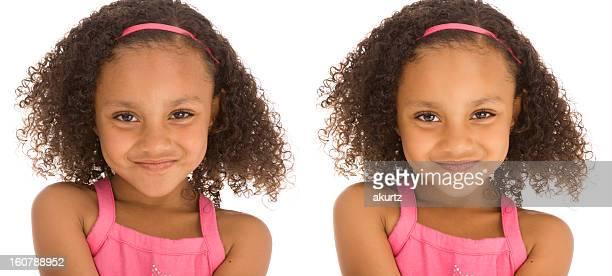 Vor und nach der Bearbeitung Portrait