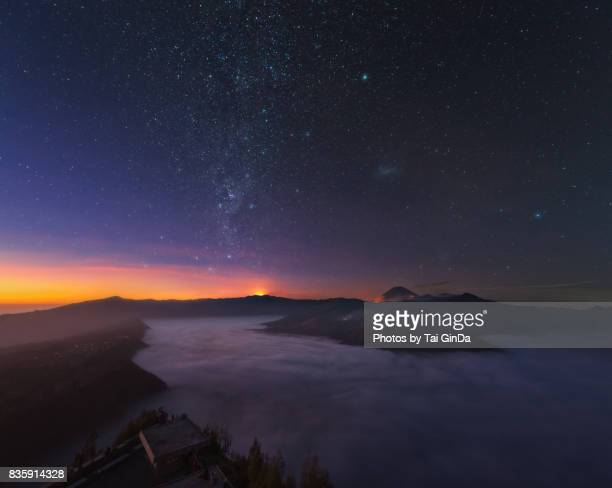 before dawn, mt bromo - mt semeru stock pictures, royalty-free photos & images