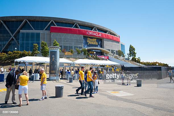 Before Game 2 of the National Basketball Association Finals between the Golden State Warriors and the Cleveland Cavaliers fans of the Warriors...
