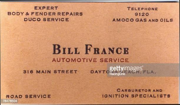 Before he became Mr NASCAR Bill France Sr was a prosperous Daytona Beach garage owner and gasoline retailer France's gas station at 316 Main Street...