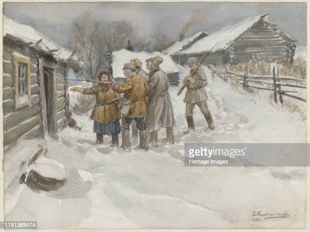 Before search and seizure , 1920. From a private collection. Artist Vladimirov, Ivan Alexeyevich .