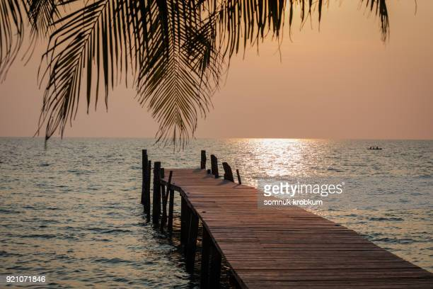 Before sun set in summer
