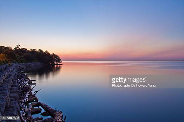 before sunrise at port credit - mississauga stock pictures, royalty-free photos & images