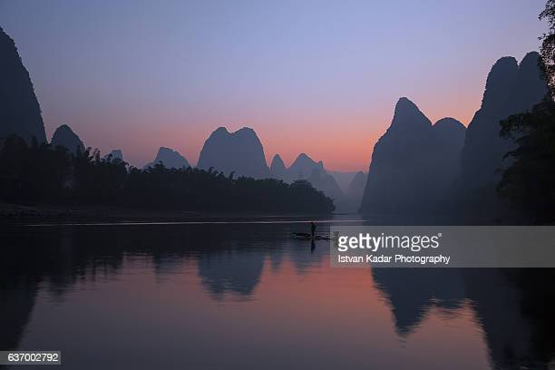 Before Sunrise on River Li, Guangxi Zhuang Autonomous Region - China
