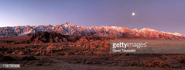 Before Sunrise panorama at Alabama Hills