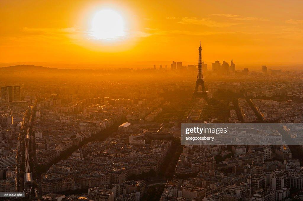 Before sunset Eiffel Tower : Stock Photo