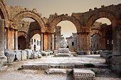 Before the airstrike on the Church of Saint Simeon Stylites