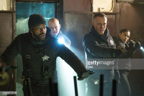 D Before the Fall Episode 717 Pictured LaRoyce Hawkins as Kevin Atwater Stephen Louis Grush as Paul Staples Jason Beghe as Hank Voight Lisseth Chavez...