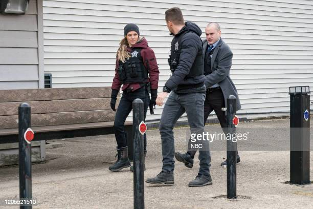 D Before the Fall Episode 717 Pictured Tracy Spiridakos as Hailey Upton Jesse Lee Soffer as Jay Halstead Stephen Louis Grush as Paul Staples