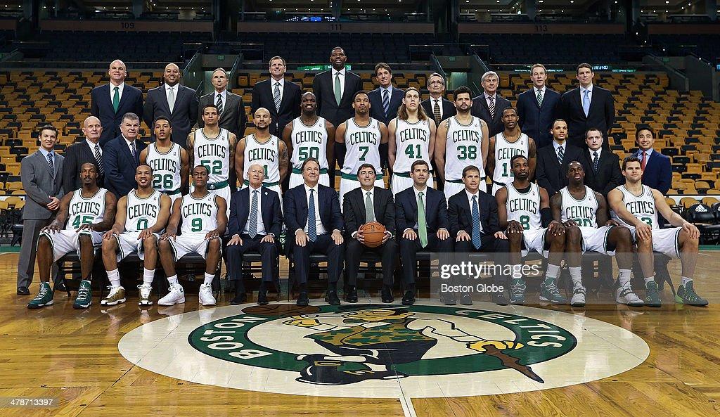 Before the game, the Boston Celtics posed for their annual ... Vitor Faverani Celtics