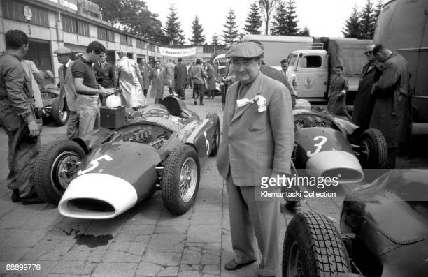 Before The German Grand Prix Nürburgring August 1956 A superb wideangle shot in the old paddock as Alfonso de Portago unpacks his kit on his Ferrari...