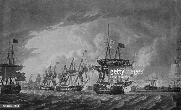 Before the 'Glorious First of June'' from 'Old Naval Prints' by Charles N Robinson Geoffrey Holme 1924 The British fleet on the evening of 29 May...
