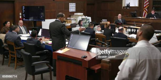 Before the jury enters the courtroom defense attorney Ronald Sullivan standing has a contentious exchange with Judge Jeffery Locke Sullivan felt the...