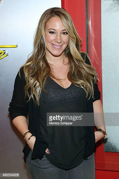 Before the premiere of her Cooking Channel show 'Real Girl's Kitchen' Saturday Haylie Duff stopped by the Broadway Steak 'n Shake in NYC to help set...
