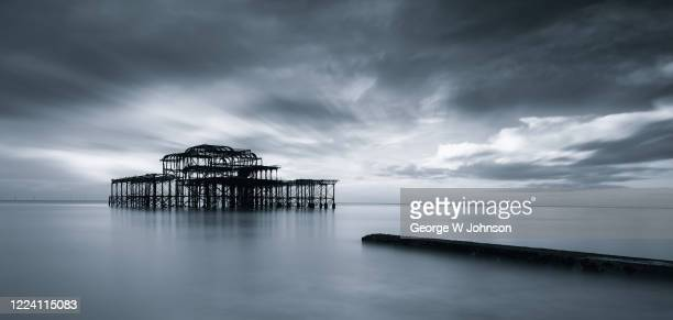 before the storm - brighton beach england stock pictures, royalty-free photos & images