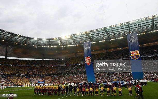 Before the UEFA Champions League Final between Barcelona and Arsenal in the Stade de France in St Denis near Paris Barcelona won 21