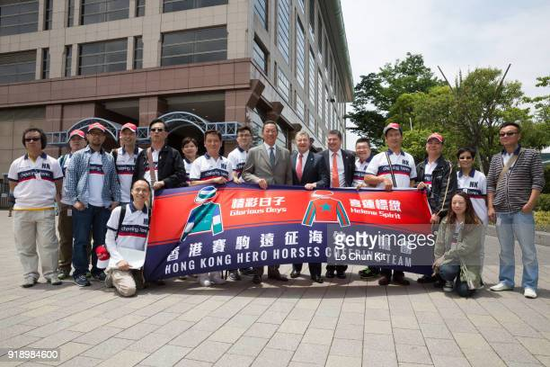 Before the Yasuda Kinen race HKJC's Deputy Chairman Dr Simon Ip Chief Executive Officer Winfried EngelbrechtBresges Executive Director Racing William...