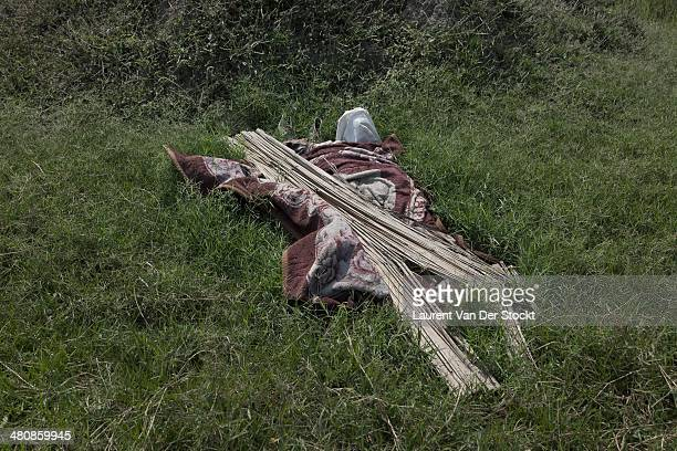 Before to be buried bodies are sometimes covered to not be devoured by animals Photograph Laurent Van der Stockt/Edit by Getty Images