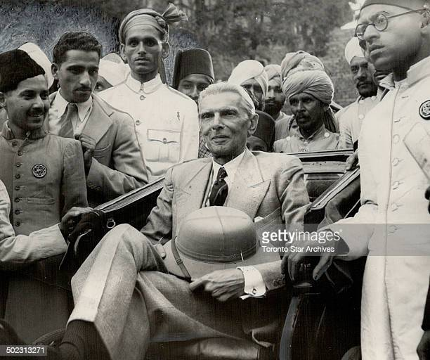 Before today's rejection of British plans for an Indian government by the powerful Moslem league M A Jinnah its president seen here in a rickshaw...
