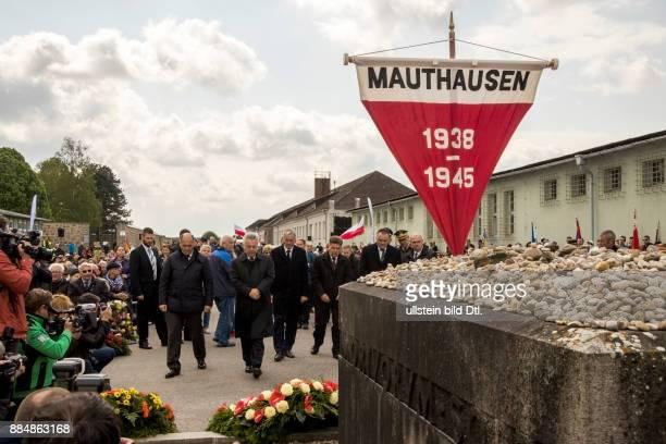 Befreiungsfeier 2016 in der KZ Gedenkstätte Mauthausen Mehr als 6000 Menschen darunter auch Überlebende des Konzentrationslagers aus dem In und...