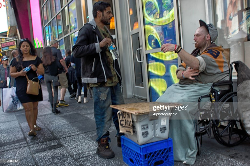 Beggar on the streets of New York : Stock Photo