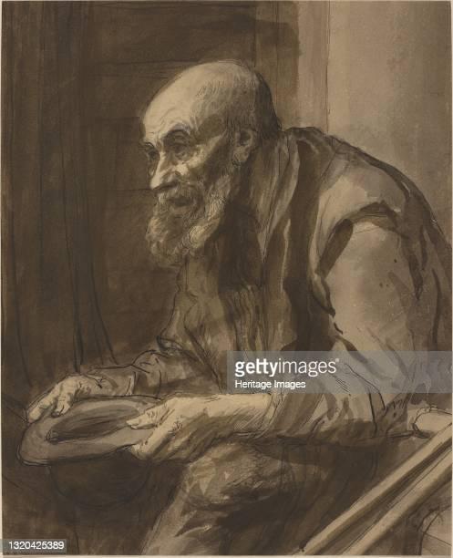 Beggar with Crutches. Artist Alphonse Legros.