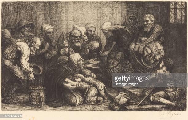 Beggars of Brussels . Artist Alphonse Legros.