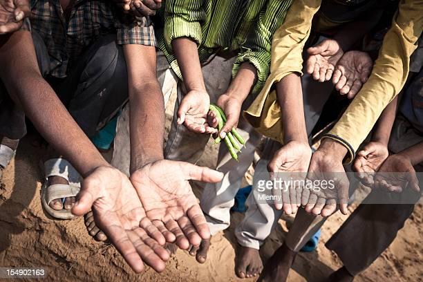 Begging Hands of the Poor