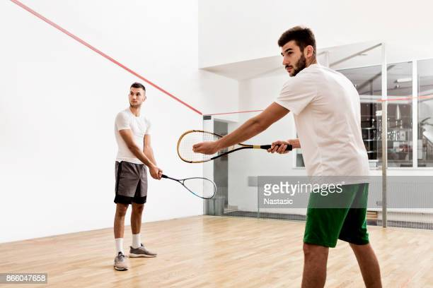 begging of a squash match - squash sport stock pictures, royalty-free photos & images
